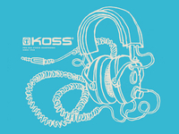 Koss 4AA Headphones - Shirt Design