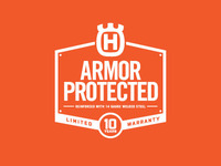 Husqvarna ARMOR PROTECTED Steel Deck Badge