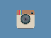 Flat Instagram App Icon