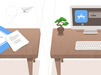 Desks Illustration