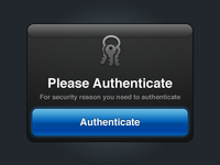 Authenticate iPhone Modal