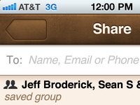 iPhone Share Retina UI