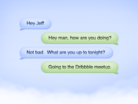 Cloud Chat Bubbles