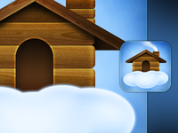 Cloud House iPhone 4 Icon