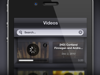 Secret Videos iPhone UI
