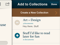 Scribd App - Collections Screen