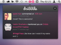 Dribbbble Notifications