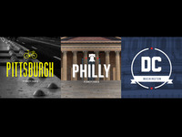 DC, Philly, Pittsburgh