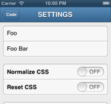 Fiddles Snippet Settings