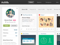 Dribbble Redesign Full