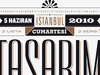 Poster for the design walk in İstanbul