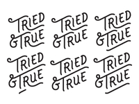 Tried & True Logotype Explorations