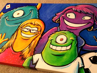 Family Monster painting