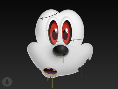 Download Mickey Zombie wallpaper