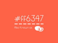 My favorite color : #ff6347