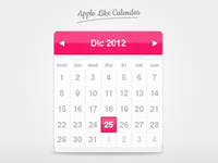 Apple Like Calendar