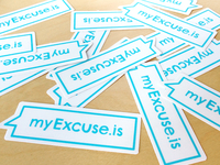 myExcuse.is Stickers