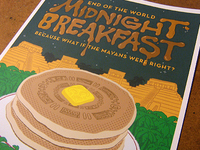 Midnight Breakfast Poster