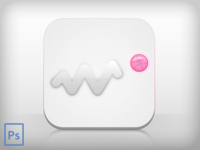 Dribbble Icoming Icon (psd freebie)
