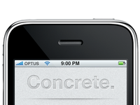 Concrete. Coming Soon.