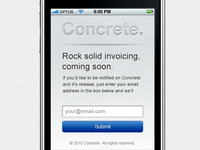 Concrete iPhone