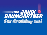 Janik Baumgartner - Thank you for drafting me!