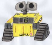 Wall-e Watercolor Painting