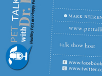 Pet Talk business cards