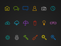 Line Play Vector Icons