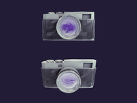 Low Poly Camera Icon