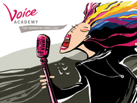 illustration for Voice Academy music scholl