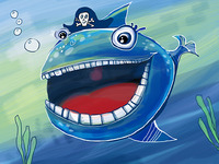 Pirate fish for I-pad app