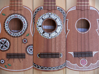 Hand painted ukuleles