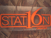 Station16 logo wall