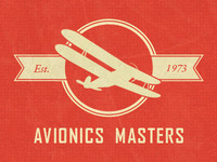 Neo Retro Aviation Logo (Red)