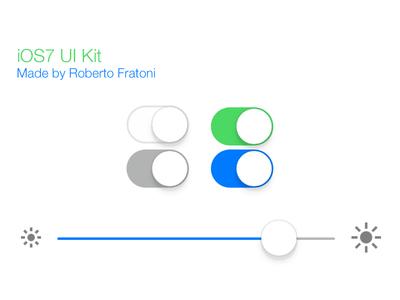 Download PSD iOS 7 UI Kit