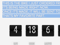 jQuery Bike Countdown