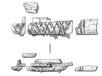 Anglo-Saxon Bone Comb Illustration