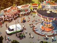 3D Lowpoly German Funfair