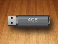 USB Flash Drive vector icon