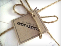 Wedding invite tag