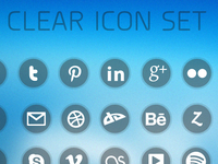 Clear Icon Set Preview