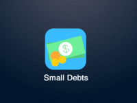 Small Debts - the new iOS 7 icon