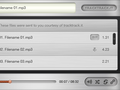 Tracktrack-musicplayer