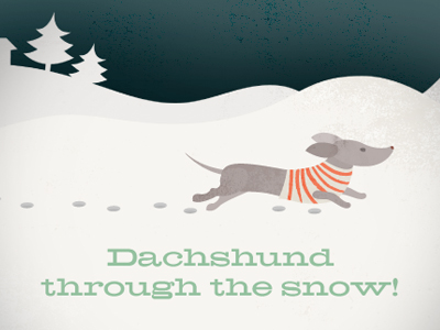 Dachshund_through_the_snow