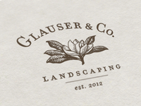 Glauser & Co. Landscaping Logo