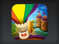 iOS App Icon Design: Reading Rainbow