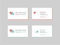 We make lovely. Business Cards