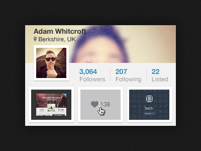 Dribbble-profile-widget