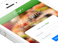 Luigi's – iPhone App / Sign Up